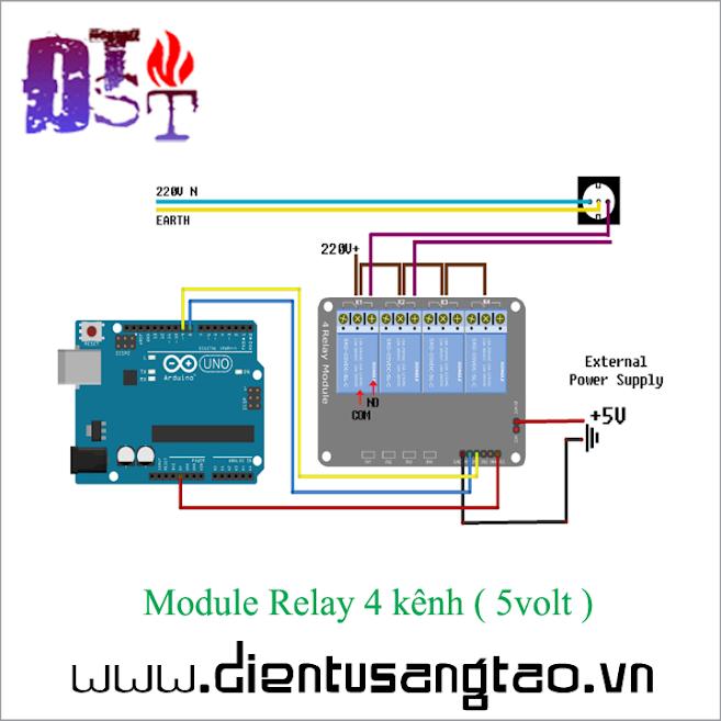 Module Relay 4 kênh - 5volt