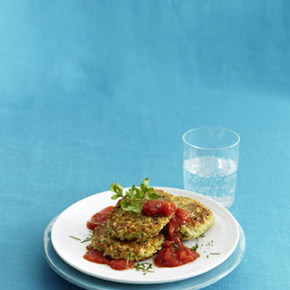 Rice Patties with Herb Tomato Sauce.