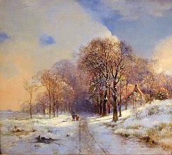 "Photo: Joannes Petrus Waterloo, ""Sentiero boschivo coperto di neve"" (1832)"