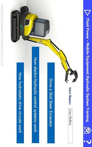 Mobile system hydraulic excavator training rev 1-00 screenshots 1