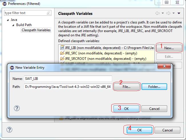 Configure môi trường SWT