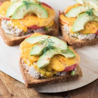Open-Faced Tuna Melt Sandwich.
