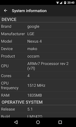 Phone Tester (hardware info) screenshot 8
