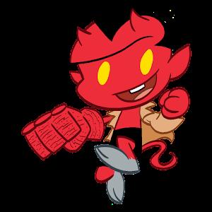 Itty Bitty Hellboy Emoji Gratis