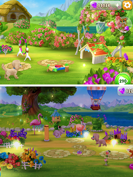 Garden Pets: Match-3 Dogs & Cats Home Decorate