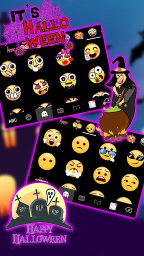 Halloween Pumpkin Keyboard Theme screenshots 4