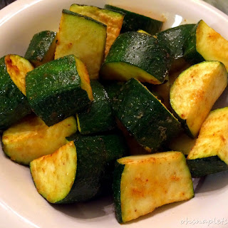 Simple Oven Baked Zucchini.