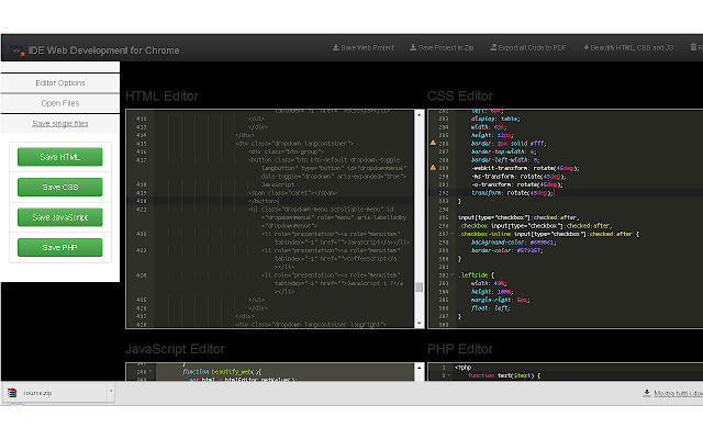 IDE Web Development