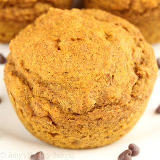 Chocolate Truffle Pumpkin Muffins.