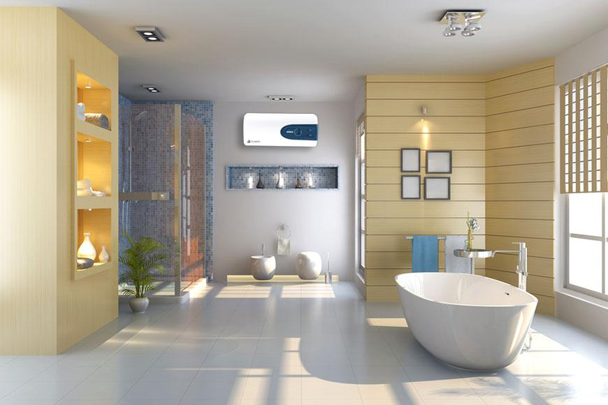 Bình nóng lạnh giúp thiết kế phòng tắm sang trọng, hiện đại hơn