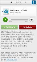 Screenshot of AT&T Visual Voicemail