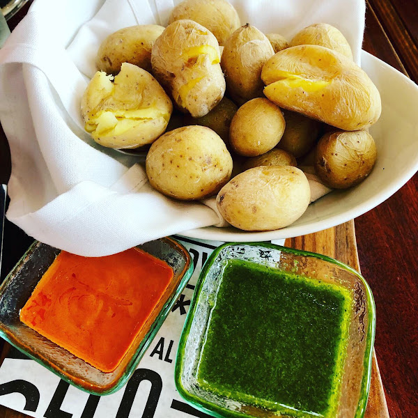 Potatoes -green sauce was delicious