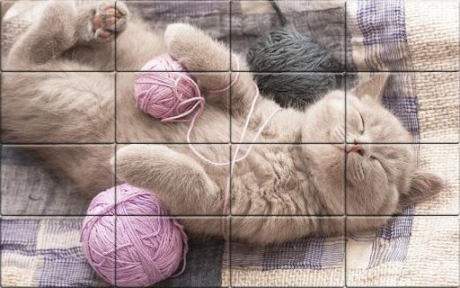 Tile Puzzle Cats apkpoly screenshots 1