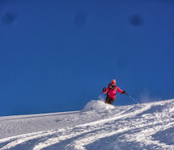 Photo: Gill's first off-piste this season