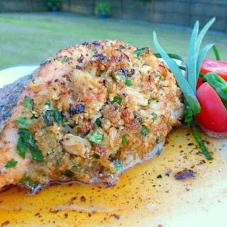 Slammin' Crab Stuffed Salmon.