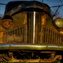 Buffalo Studebaker by Kent Moody - Transportation Automobiles ( studebaker, rust, vintage, truck, hdr, rusty, texas )