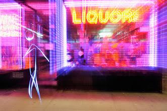 Photo: Liquor Shop - Light painting by Christopher Hibbert, french photographer and light painter. Further information: http://www.christopher-hibbert.com
