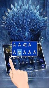 Sword Thrones Theme&Emoji Keyboard - náhled