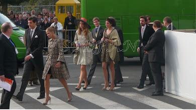 Photo: Prince Jean Christophe Napoleon with Prince Alix of Ligne behind Princess Maria Annunziata, Prince Joseph Emanuel and Princess Marie Astrid of Liechtenstein