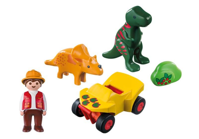 Contenido real de Playmobil® 9120 Quad con 2 Dinos