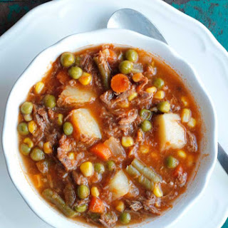 My Mom's Old-Fashioned Vegetable Beef Soup.