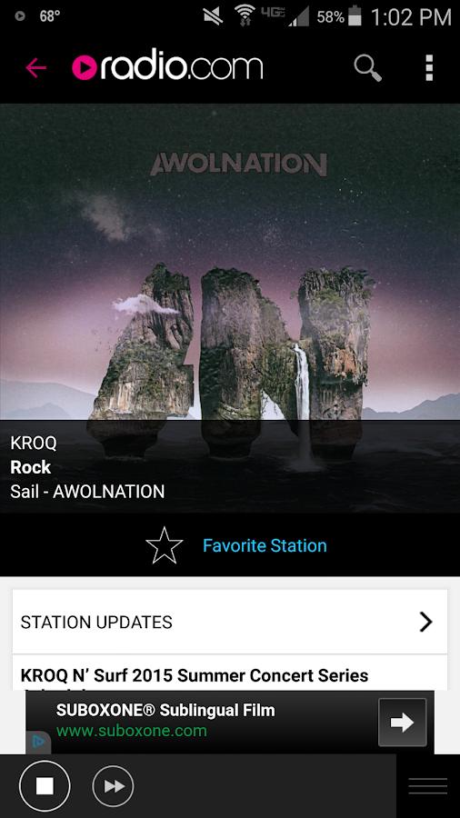 Radio.com- screenshot