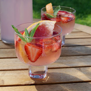 Pink Grapefruit and Strawberry Mocktail (with Alcoholic Option) Recipe