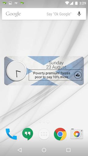 Scotland Clock RSS Widget