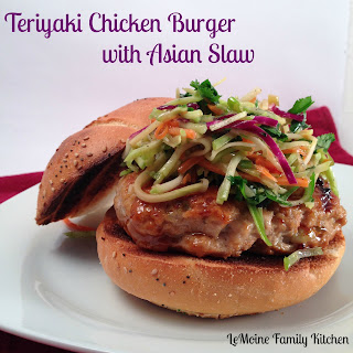 Teriyaki Chicken Burger with Asian Slaw