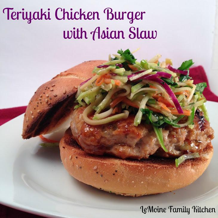 Teriyaki Chicken Burger with Asian Slaw