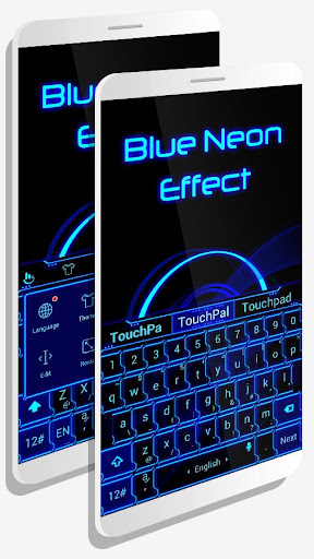 Blue Neon Effect Theme