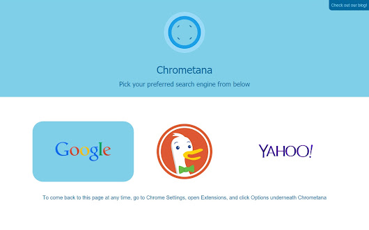 Chrometana - Redirect Bing Somewhere Better