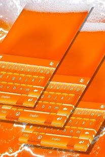 Pivní sklo téma pro klávesnici - náhled