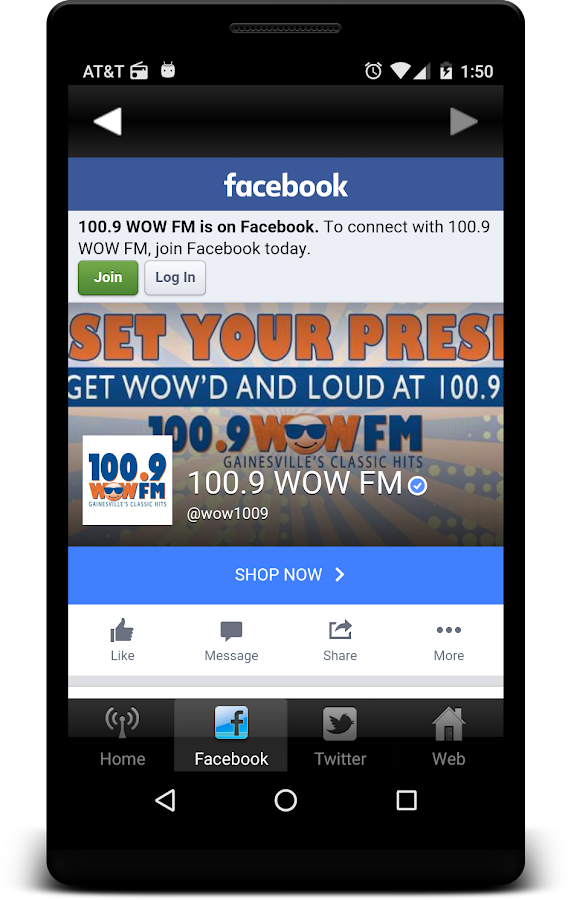 WOW 100.9- screenshot