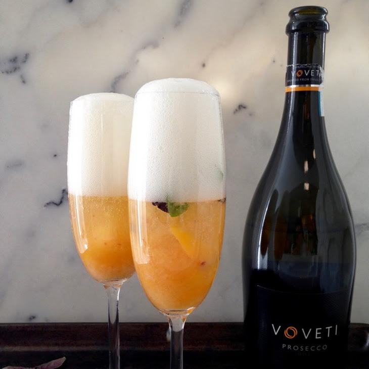 Basil Peach Bellini Cocktail Recipe | Yummly