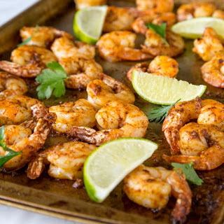 One Pan Spicy Garlic Shrimp.