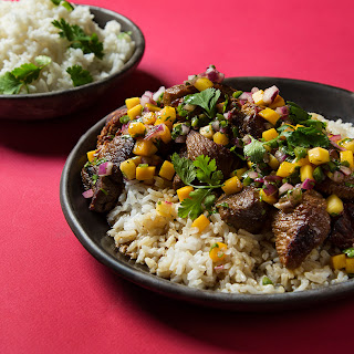 Filipino Pork Adobo with Mango Salsa