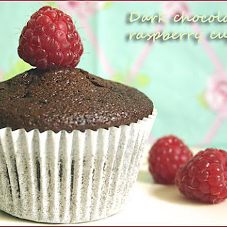 Sinful Dark Chocolate & Raspberry Cupcakes