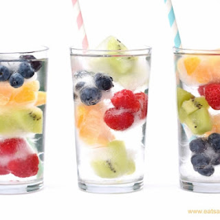 Rainbow Fruit Ice Cubes