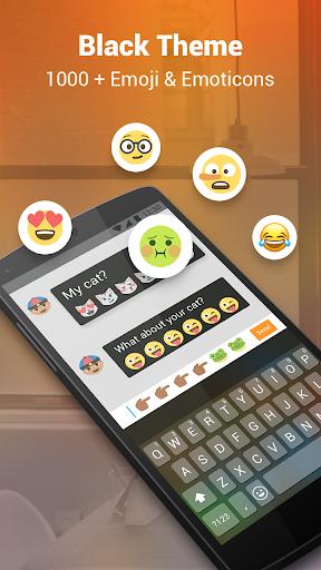 Phone Black Keyboard screenshot 2