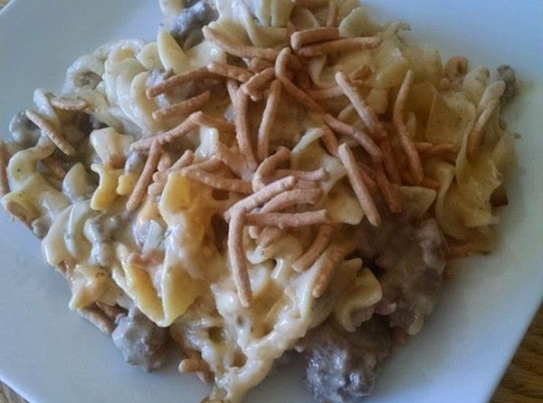 Cheesy Beef Noodle Chow Mein Casserole Recipe
