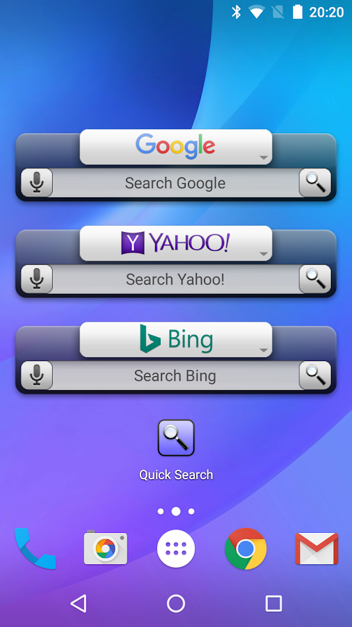 Quick Search Widget (free)- screenshot