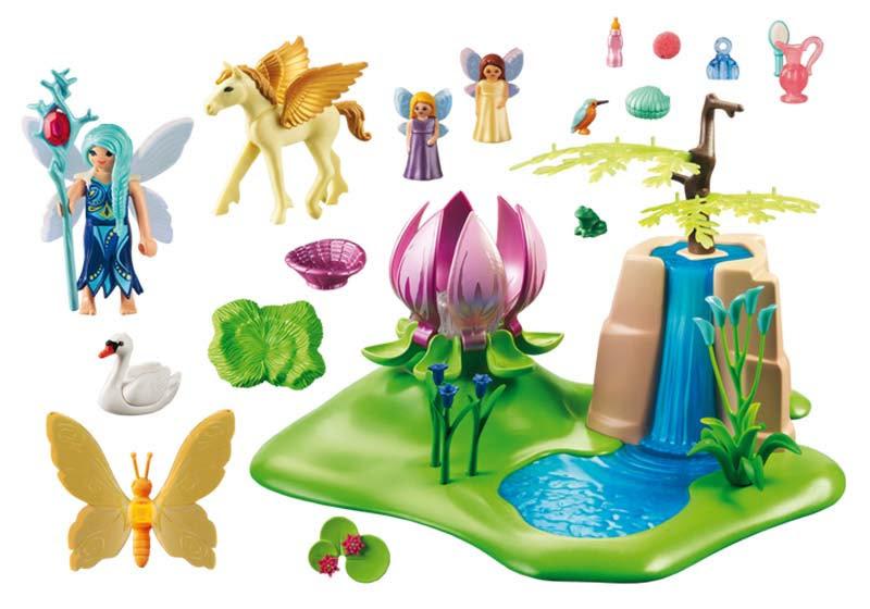 Contenido real de Playmobil® 9135 Lago con Hadas Bebé