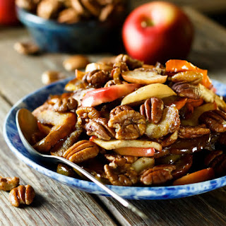 Maple Roasted Acorn Squash with Apples and Pecans
