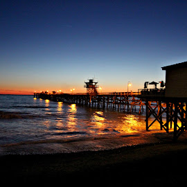 Sunset at the Pier by Carrie Murray-Feely - Buildings & Architecture Other Exteriors