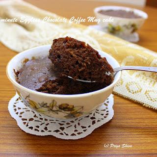 Eggless Chocolate Coffee Mug cake