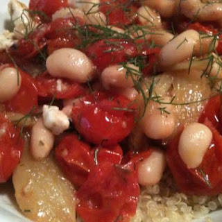 Roasted Tomato With Fennel and White Beans