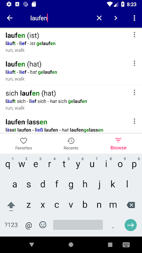 German Verbs Pro: conjugation translation grammar  screenshots 1