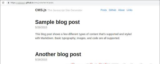 GitHub Pagesにブログが表示される