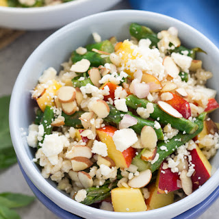 Barley Salad with Grilled Asparagus and Nectarines